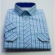 Košile světle modrá kostka - kombi
