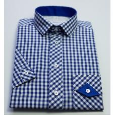 Košile modrá kostka - kombi